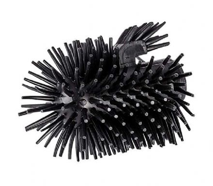 Wenko Replacement Silicone Brush Head with Rim Cleaner Black 22243100